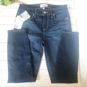 NEW Paige Verdugo Crop Midrise Jeans skinny blue